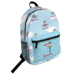 Airplane & Pilot Student Backpack (Personalized)
