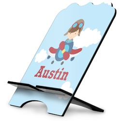 Airplane & Pilot Stylized Tablet Stand (Personalized)