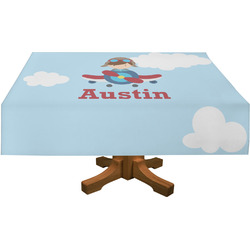 "Airplane & Pilot Tablecloth - 58""x102"" (Personalized)"