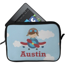 Airplane & Pilot Tablet Case / Sleeve (Personalized)