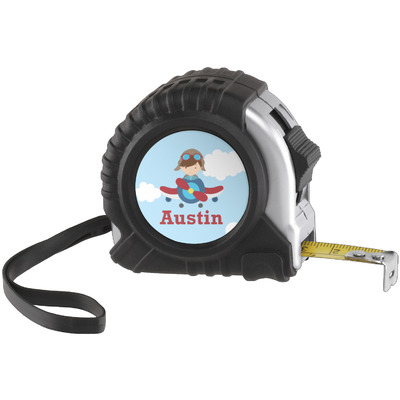 Airplane & Pilot Tape Measure (25 ft) (Personalized)