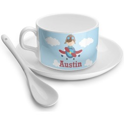 Airplane & Pilot Tea Cup - Single (Personalized)