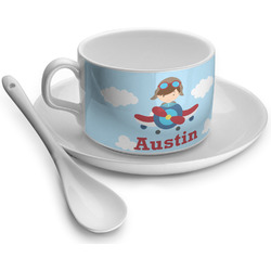 Airplane & Pilot Tea Cups (Personalized)