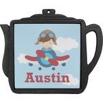 Airplane & Pilot Teapot Trivet (Personalized)