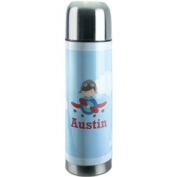 Airplane & Pilot Stainless Steel Thermos (Personalized)