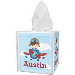 Airplane & Pilot Tissue Box Cover (Personalized)