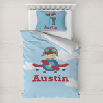 Airplane & Pilot Toddler Bedding w/ Name or Text