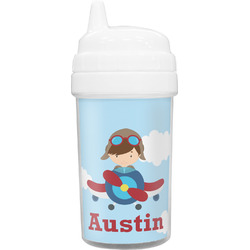 Airplane & Pilot Toddler Sippy Cup (Personalized)