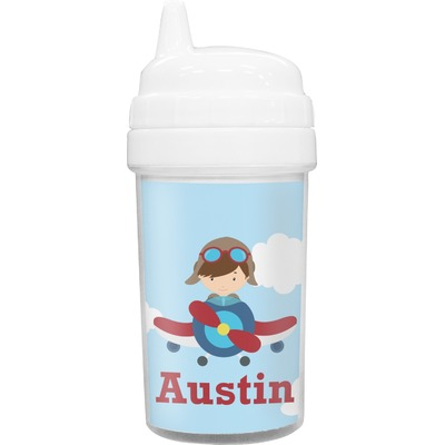 Airplane & Pilot Sippy Cup (Personalized)
