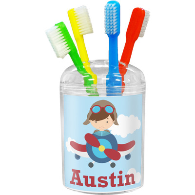 Airplane & Pilot Toothbrush Holder (Personalized)