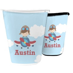 Airplane & Pilot Waste Basket (Personalized)