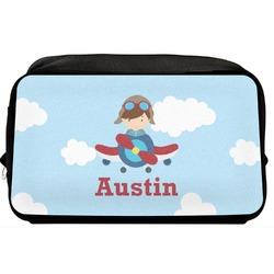 Airplane & Pilot Toiletry Bag / Dopp Kit (Personalized)