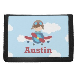 Airplane & Pilot Trifold Wallet (Personalized)