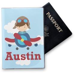 Airplane & Pilot Vinyl Passport Holder (Personalized)
