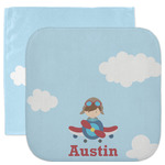 Airplane & Pilot Facecloth / Wash Cloth (Personalized)