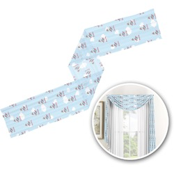 Airplane & Pilot Window Sheer Scarf Valance (Personalized)
