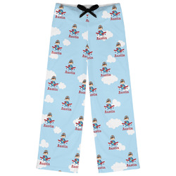 Airplane & Pilot Womens Pajama Pants (Personalized)