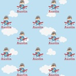Airplane & Pilot Wrapping Paper (Personalized)