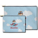 Airplane & Pilot Zipper Pouch (Personalized)