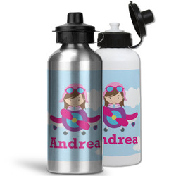 Airplane & Girl Pilot Water Bottles- Aluminum (Personalized)