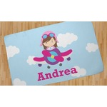 Airplane & Girl Pilot Area Rug (Personalized)