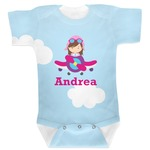 Airplane & Girl Pilot Baby Bodysuit (Personalized)
