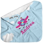 Airplane & Girl Pilot Baby Hooded Towel (Personalized)