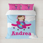 Airplane & Girl Pilot Duvet Covers (Personalized)