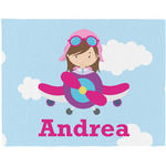 Airplane & Girl Pilot Placemat (Fabric) (Personalized)
