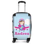 Airplane & Girl Pilot Suitcase (Personalized)