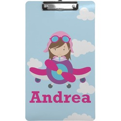 Airplane & Girl Pilot Clipboard (Legal Size) (Personalized)