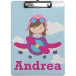 Airplane & Girl Pilot Clipboard (Personalized)