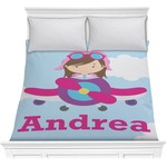 Airplane & Girl Pilot Comforter (Personalized)