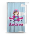 Airplane & Girl Pilot Curtain (Personalized)