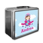Airplane & Girl Pilot Lunch Box (Personalized)