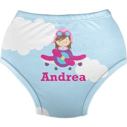 Airplane & Girl Pilot Diaper Cover (Personalized)