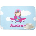 Airplane & Girl Pilot Dish Drying Mat (Personalized)