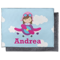 Airplane & Girl Pilot Microfiber Screen Cleaner (Personalized)