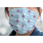 Airplane & Girl Pilot Face Mask Cover (Personalized)