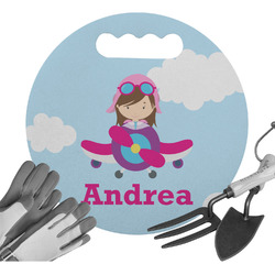 Airplane & Girl Pilot Gardening Knee Cushion (Personalized)
