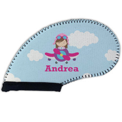 Airplane & Girl Pilot Golf Club Cover (Personalized)