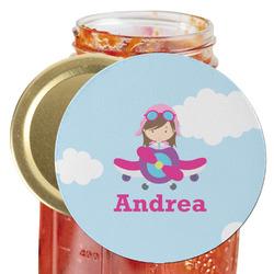 Airplane & Girl Pilot Jar Opener (Personalized)