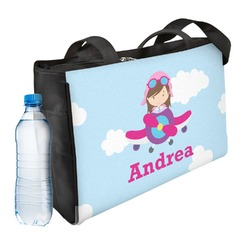 Airplane & Girl Pilot Ladies Workout Bag (Personalized)