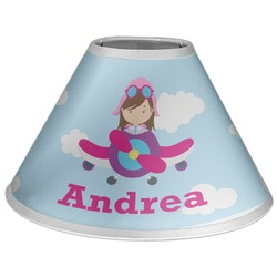 Airplane & Girl Pilot Coolie Lamp Shade (Personalized)