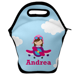 Airplane & Girl Pilot Lunch Bag w/ Name or Text