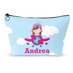 Airplane & Girl Pilot Makeup Bags (Personalized)