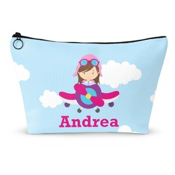 Airplane & Girl Pilot Makeup Bags (Personalized)