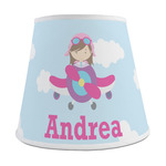 Airplane & Girl Pilot Empire Lamp Shade (Personalized)