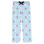 Airplane & Girl Pilot Mens Pajama Pants (Personalized)
