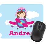 Airplane & Girl Pilot Mouse Pads (Personalized)